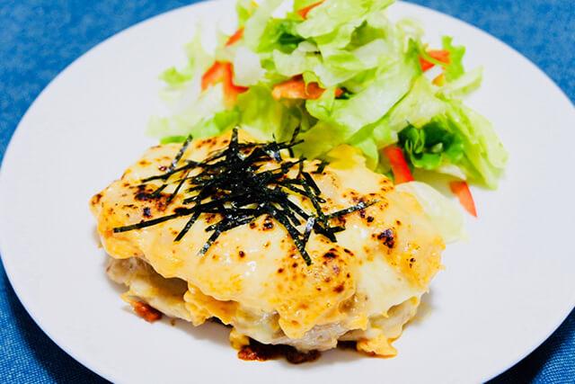 鶏肉の明太ポテトチーズ焼き